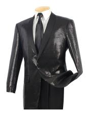 ID#DB22344 Sequin Glitter Classic Fit 1 Button Black Side Vents Dinner Jacket Best Cheap Blazer For Affordable Cheap Priced Unique Fancy For Men Available Big Sizes on sale Men Affordable Sport Coats Sale