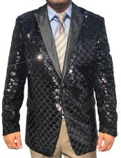 Button Black Sequin ~
