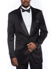 Button Black Tuxedo Jacket
