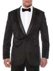 ID#NM13 1 Button Shawl Lapel Black Velvet Two Toned With Black Lapel Side Vented Best Cheap Mens Blazer Affordable Cheap Priced Unique Fancy For Men Available Big Sizes on sale Men Affordable Sport Coats Sale