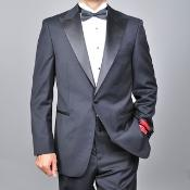 ID#KA1478 Authentic Bertolini Brand Wool fabric One-button Tuxedo