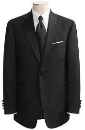 One Button Black Wool Tuxedo