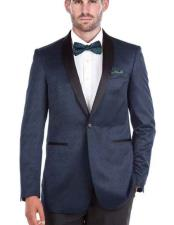 Shawl Collar Blue 1