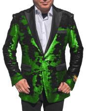 Button Shiny Sequin Tuxedo
