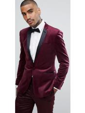 Button Slim Fit Wedding