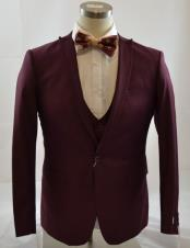 Burgundy Prom Single Breasted