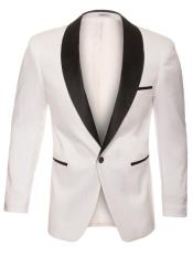 White Shawl Lapel 1 Button Crocodile Blazer ~ Suit Jacket ~ Snake Affordable Cheap Priced Unique Fancy For Men Available Big Sizes on sale Sport Coat