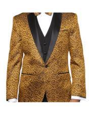 Gold Two Toned Patterned