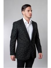 1 Button Pattern Jacket