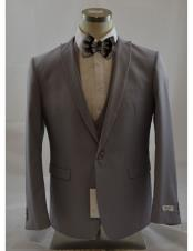 Button Grey 3 Piece