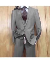 ID#KO19115 3 ~ Three Piece One button style Vested Inexpensive ~ Cheap ~ Discounted Clearance Sale Extra Slim Fit Suit