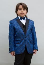 1 Button  Navy Blue Colored  Boys Blazer Suit Jacket ~ Sport coat + Jacket