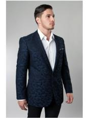 blazer Navy Pattern Jacket