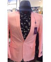 1 Button Pink Blazer