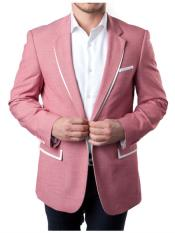 Button Slim Fit Pink