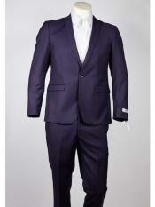 ID#SM970 One Button Slim Fit Purple pastel color  Peak Collared Lightweight Material Summer Polyester Suits Men