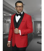 ID#NM1382 Men's Shawl Collar Black Lapel 1 Button Christmas Red Dinner Jacket Blazer Suit Jacket Affordable Inexpensive ~ Cheap ~ Discounted Affordable Cheap Priced Unique Fancy For Men Available Big Sizes on sale Mens Sport Coats Sale