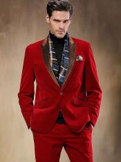 1 Button Velvet Suit