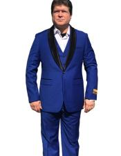 Button Royal Blue Suit