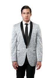 1 Button Tazio Shawl Collar Slim Fit Silver Best Cheap Blazer For Affordable Cheap Priced Unique Fancy For Men Available Big Sizes on sale Men Affordable Sport Coats Sale