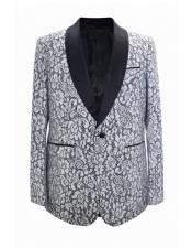 White 1 Button Shawl Lapel Best Cheap Blazer ~ Suit Jacket For Affordable Cheap Priced Unique Fancy For Men Available Big Sizes on sale Men Affordable Sport Coats Sale