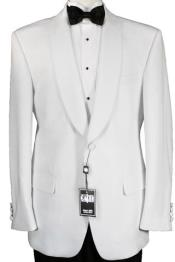 ID#GT-4287 One Button Luxurious Microfiber Fabric White Dinner Jacket