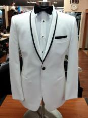 Button White  Trimmed