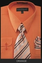 ID#OR4343 Dress Cheap Fashion Clearance Shirt Sale Online For Men - PREMIUM TIE - Orange
