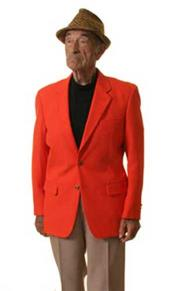 Button Sportcoat Jacket orange