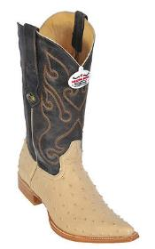 Ostrich Print Beige Authentic Los altos Western Dress Cowboy Boot Botas De Avestruz Cheap Priced For Sale Online Western Classic Rider