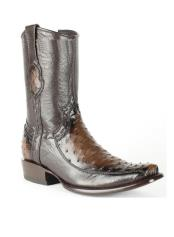 Ostrich Skin Burnished Brown