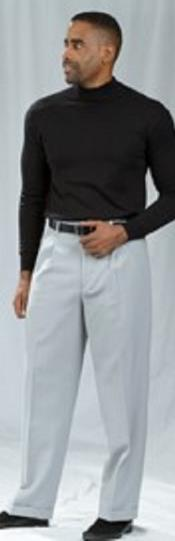 ID#TM15131 Crystal Pleated Baggy Fit Dress Pants Pacelli Silver