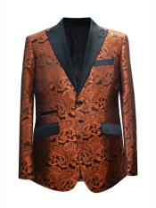 Paisley Design Orange Sport