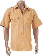 Paramilitary Camel Short Sleeve