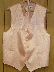 PEACH Groomsmen Wedding Vest