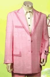 ID#HD737 Fashion Prom - Wedding Groomsmen Tuxedo Two buttons With Peak Collared Trimmed 2 Button Hot Pink Suit