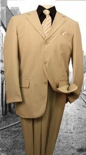 Plain Khaki Color Suit