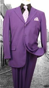 ID#KZ10290 Superior fabric 120'S G-Purple pastel color Basic Solid Plain Color Suit