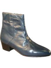 Navy Genuine Leather Sole