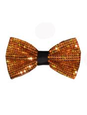 Sequin Glitter Gold Bow