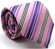 Mutli-Stripe Groomsmen Ties Pink