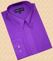 Purple pastel color Cotton Blend Dress Cheap Fashion Clearance Shirt Sale Online For Men With Convertible Cuffs