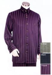 Pinstripe Long Sleeve Button