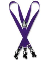 ID#D7QN Purple pastel color Groomsmen Suspenders For Men Y Shape Back Elastic Button & Clip Convertible
