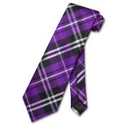 ID#HN8799 Purple pastel color Dark color black White Design Neck Groomsmen Ties
