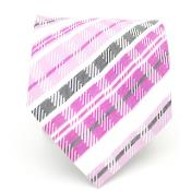 ID#KA5436 Purple pastel color/ Pink Glen Neck Groomsmen Ties and Handkerchief Combo