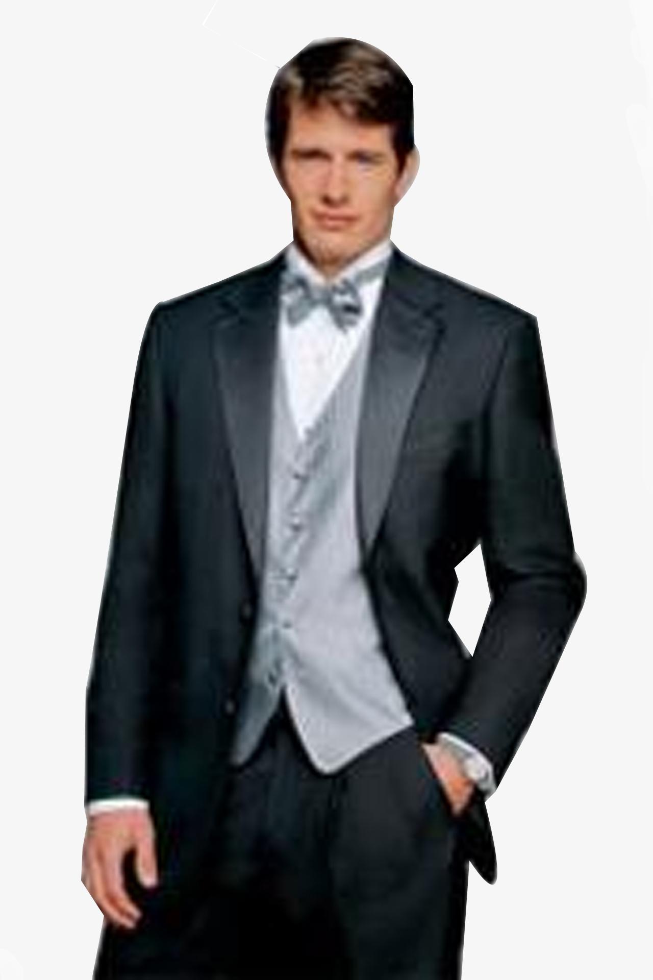 ID#PN-D01 Ralph Lauren (Diplomat) Tuxedo - Superior fabric 120's Wool fabric Tuxedo Dark color black