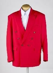 ID# MUZ762TA Red Prom pastel color Double Breasted Sportcoat Jacket JACKET