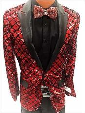 Red Dinner Jacket Flashy