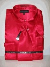New Red Prom pastel color Satin Dress Cheap Fashion Clearance Shirt Sale Online For Men Tie Combo Shirts